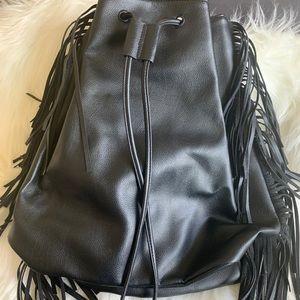 Victoria's Secret 11067913 Black Pleather Backpack